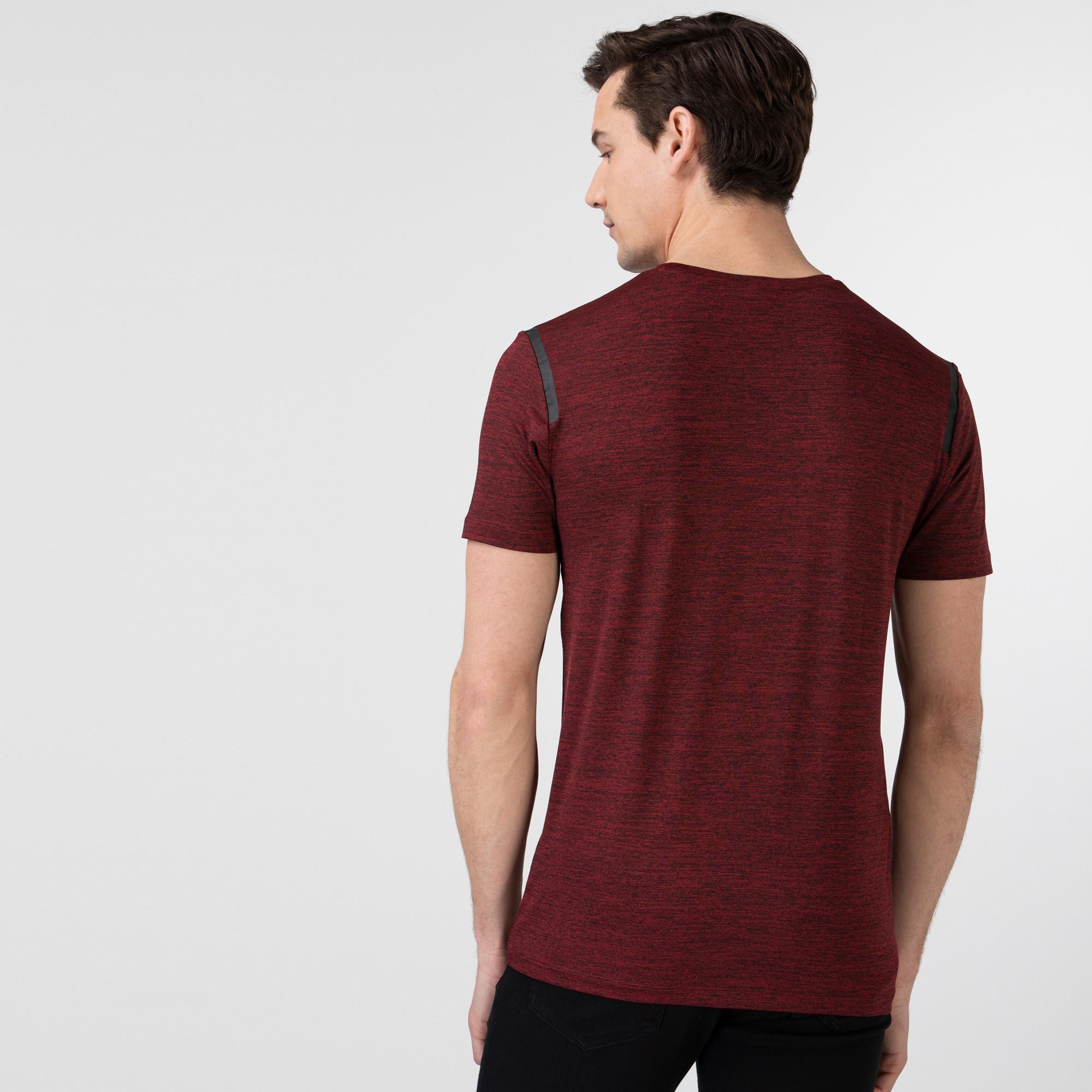 Lacoste Erkek Slim Fit Bisiklet Yaka Baskılı Bordo T-Shirt