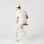 Lacoste Erkek Regular Fit Bisiklet Yaka Renk Bloklu Beyaz T-Shirt