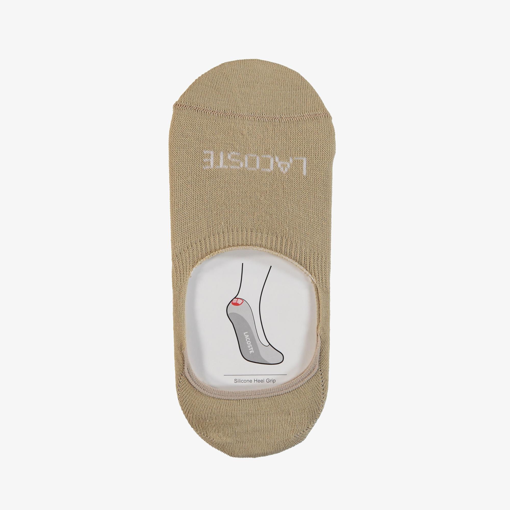 Lacoste Unisex Bej - Beyaz 2'li Çorap