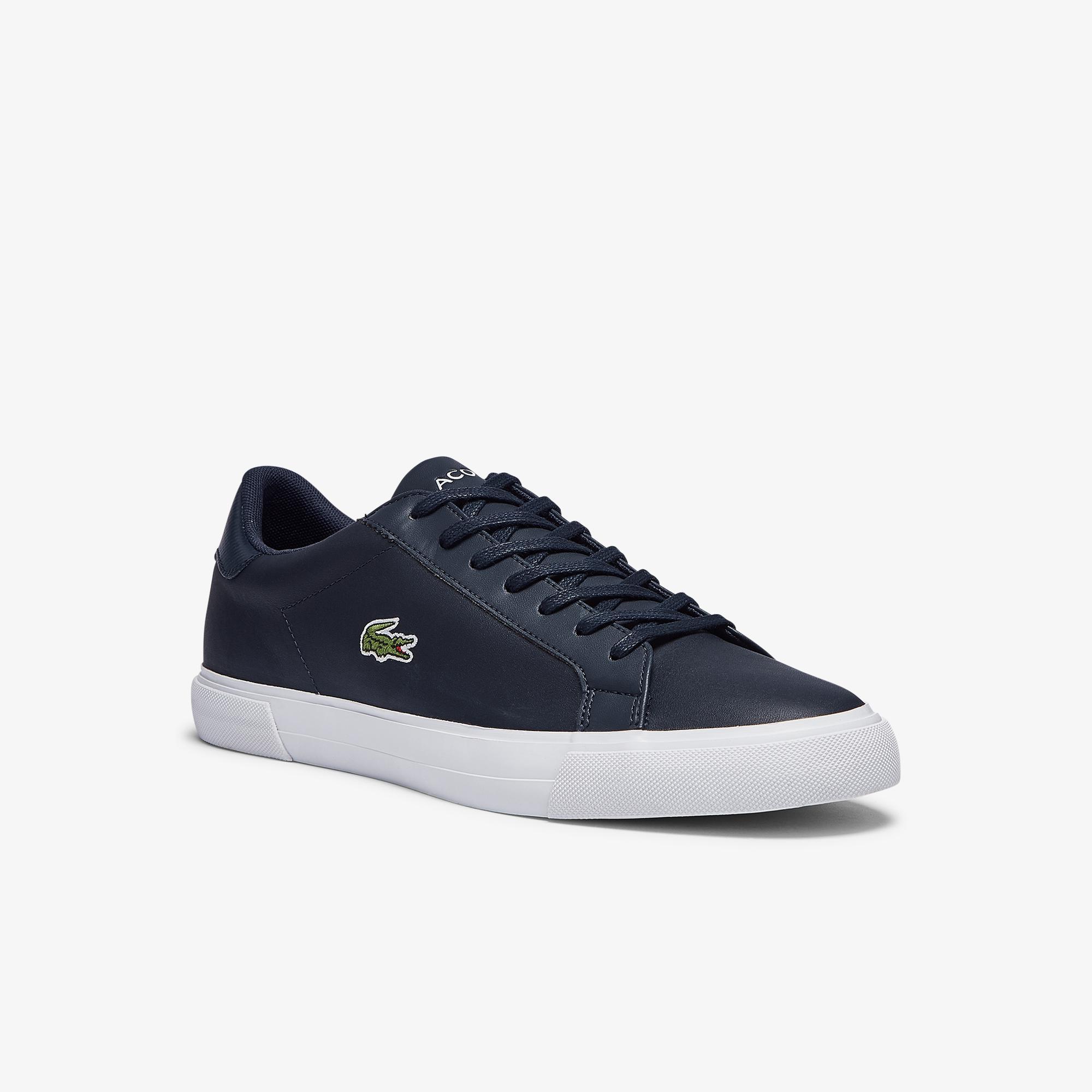 Lacoste Lerond Plus 0721 1 Cma Erkek Lacivert - Beyaz Sneaker
