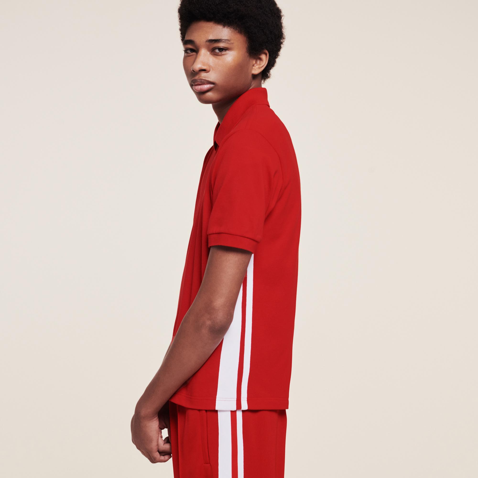 Lacoste X Ricky Regal Erkek Klasik Fit Kırmızı Polo