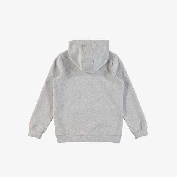 Lacoste Çocuk Kapüşonlu Baskılı Gri Sweatshirt