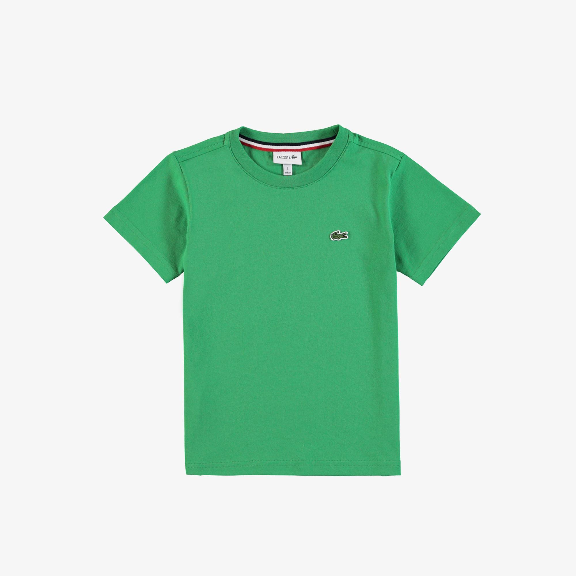 Lacoste Çocuk Bisiklet Yaka Yeşil T-Shirt