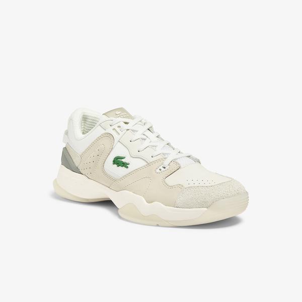 Lacoste T-Point 0721 1 G Sma Erkek Bej Gri Sneaker