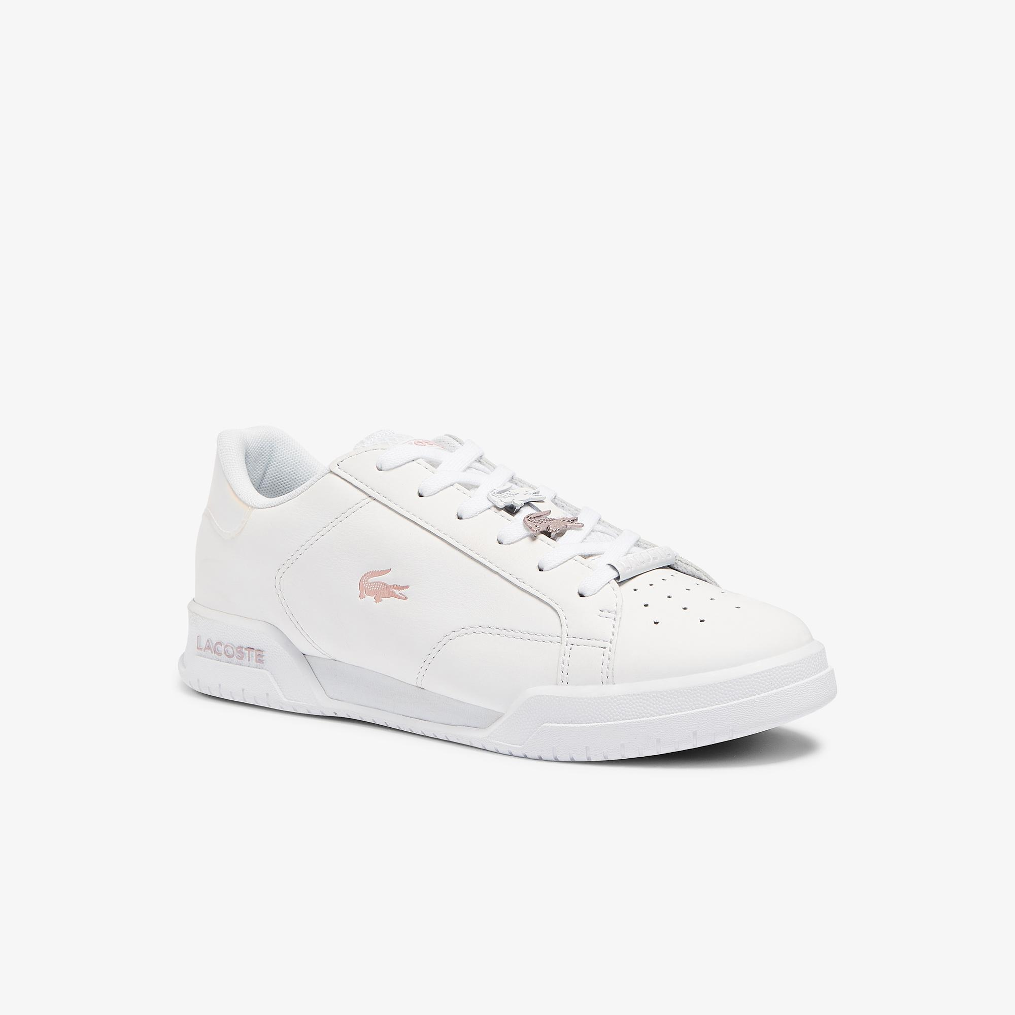 Lacoste Twin Serve 0921 1 Sfa Kadın Beyaz - Pembe Sneaker