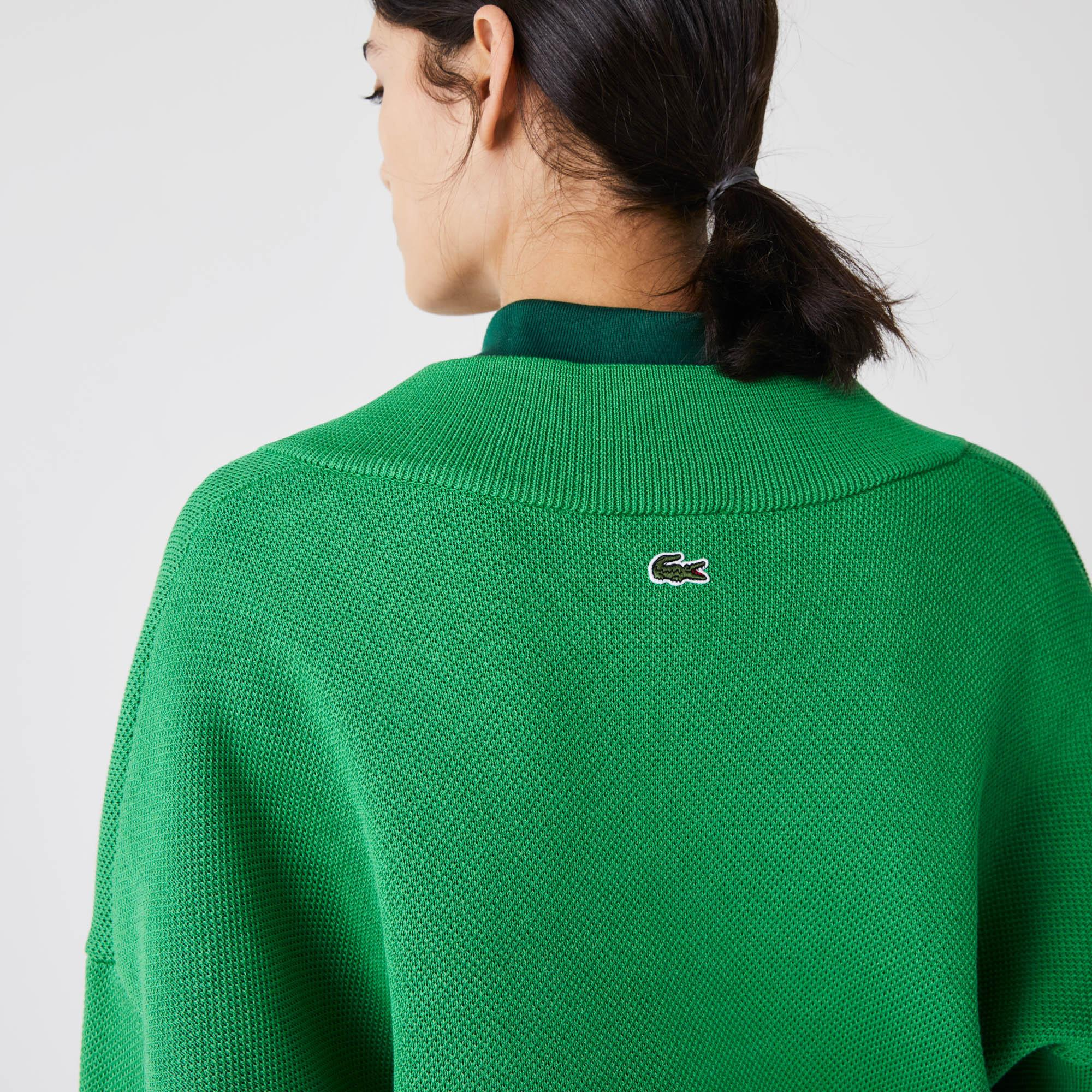 Lacoste Women?s Lacoste LIVE V-Neck Blazon Patch Sweater