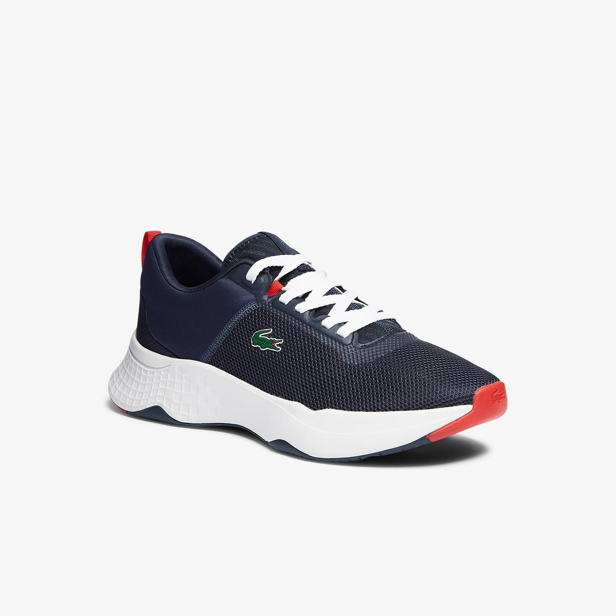 Lacoste Court-Drive 0721 1 Sma Erkek Lacivert - Kırmızı Sneaker