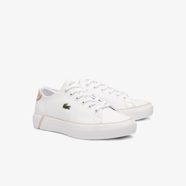 Lacoste Gripshot Bl 21 1 Cfa Kadın Beyaz - Açık Pembe Sneaker