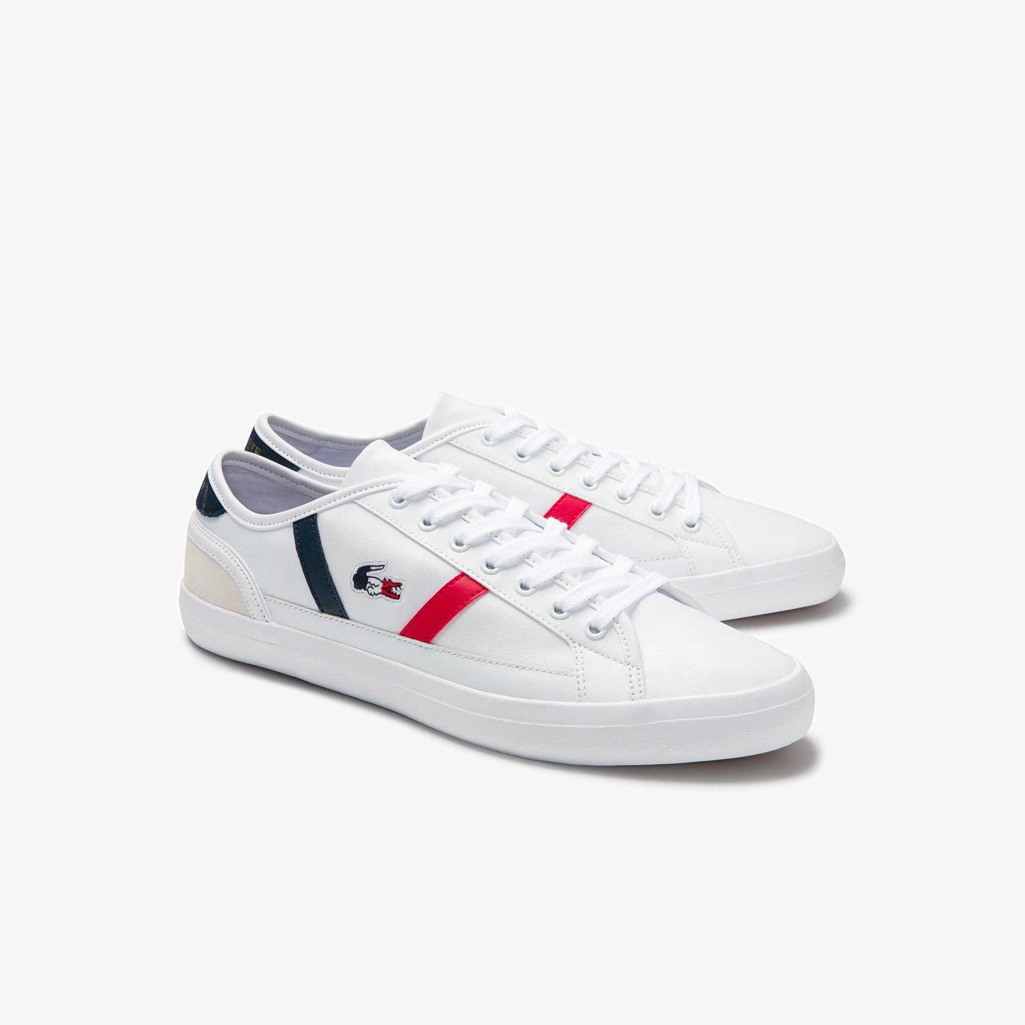 Lacoste Sideline Tri1 Cma Erkek Beyaz - Lacivert - Kırmızı Sneaker