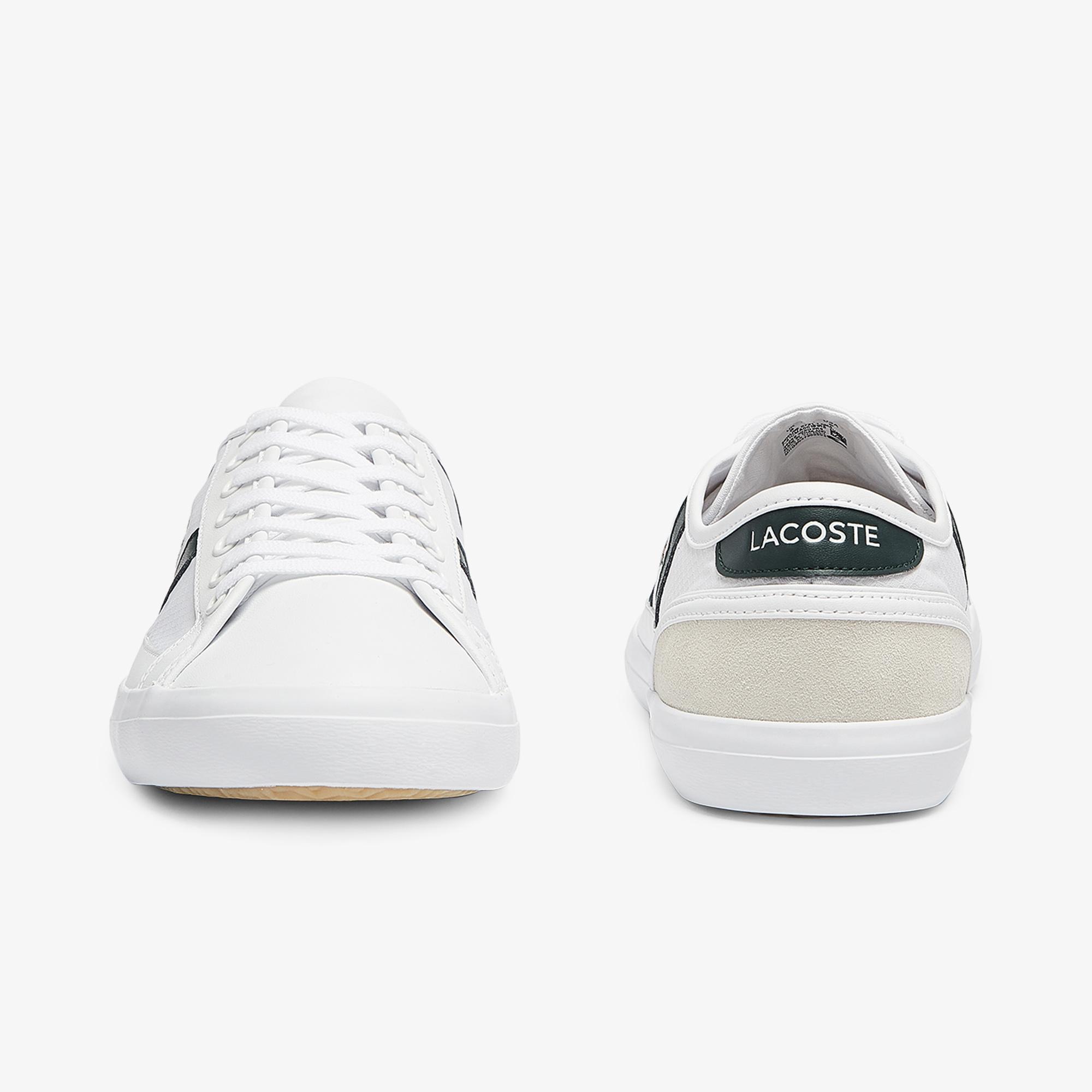 Lacoste Sideline 0721 1 Cma Erkek Beyaz - Koyu Yeşil Sneaker