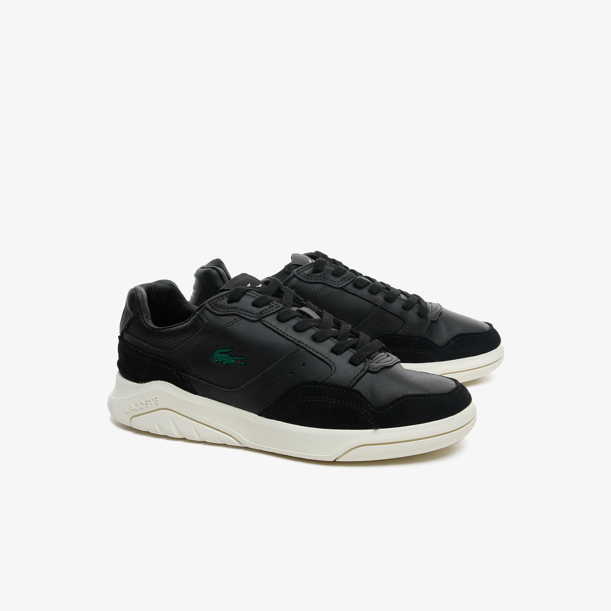 Lacoste Game Advance Luxe07211Sma Erkek Siyah - Beyaz Sneaker