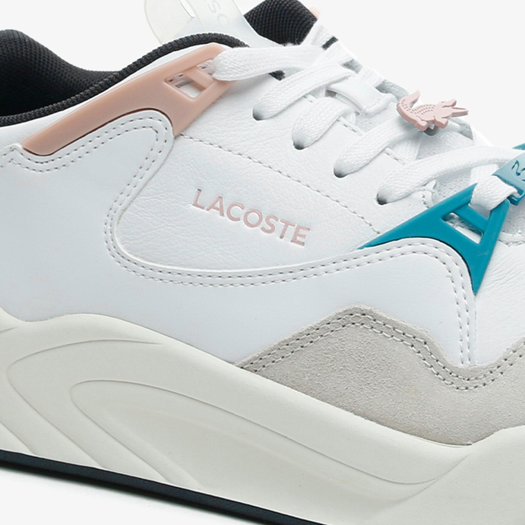 Lacoste Court Slam 0721 3 Sfa Kadın Beyaz - Bej - Açık Pembe Sneaker