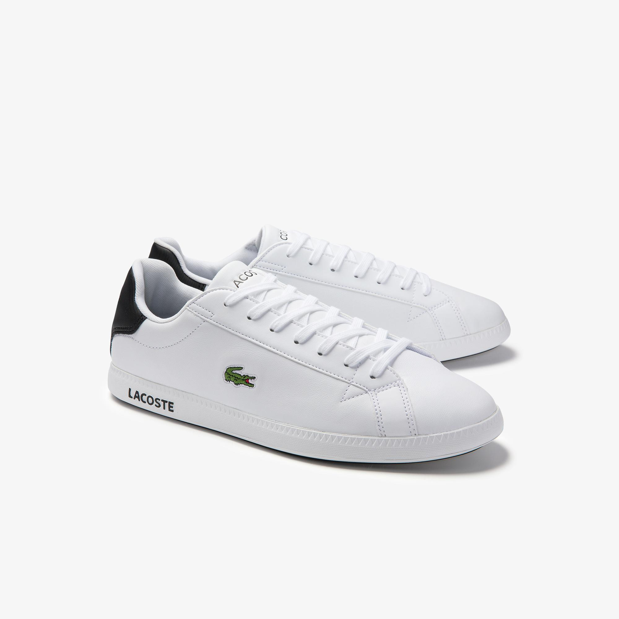 Lacoste Graduate 0120 2 Sma Erkek Beyaz - Siyah Sneaker