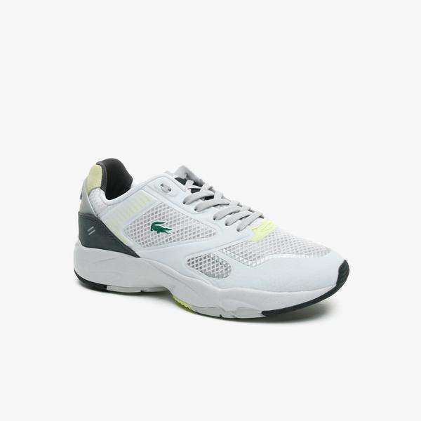 Lacoste Storm 96 Nano 07211Sfa Kadın Beyaz - Sarı Sneaker