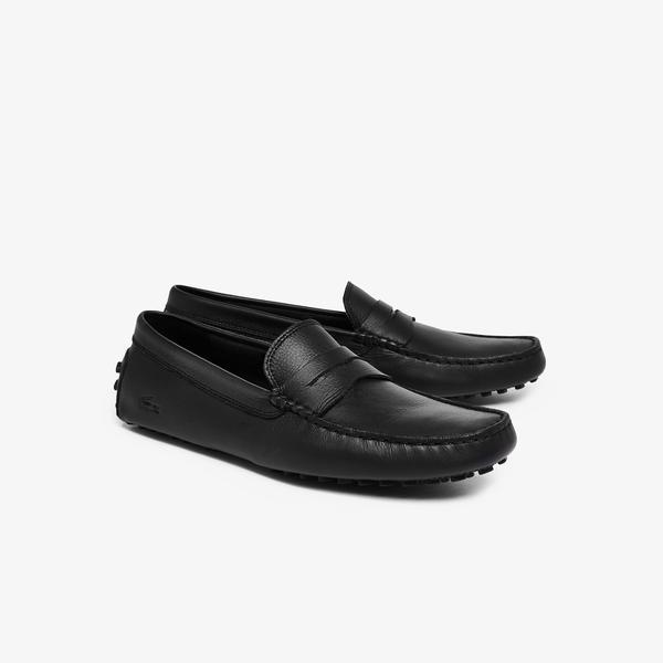 Lacoste Concours 118 1 P Cam Erkek Deri Siyah Ayakkabı