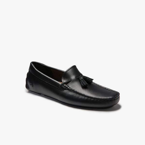 Lacoste Piloter Tassel 0320 1 Cma Erkek Siyah Ayakkabı