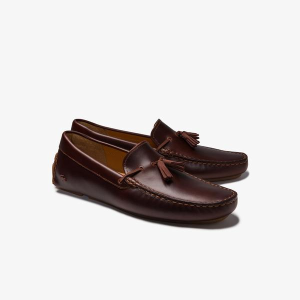 Lacoste Piloter Tassel 0320 1 Cma Erkek Kahverengi Ayakkabı