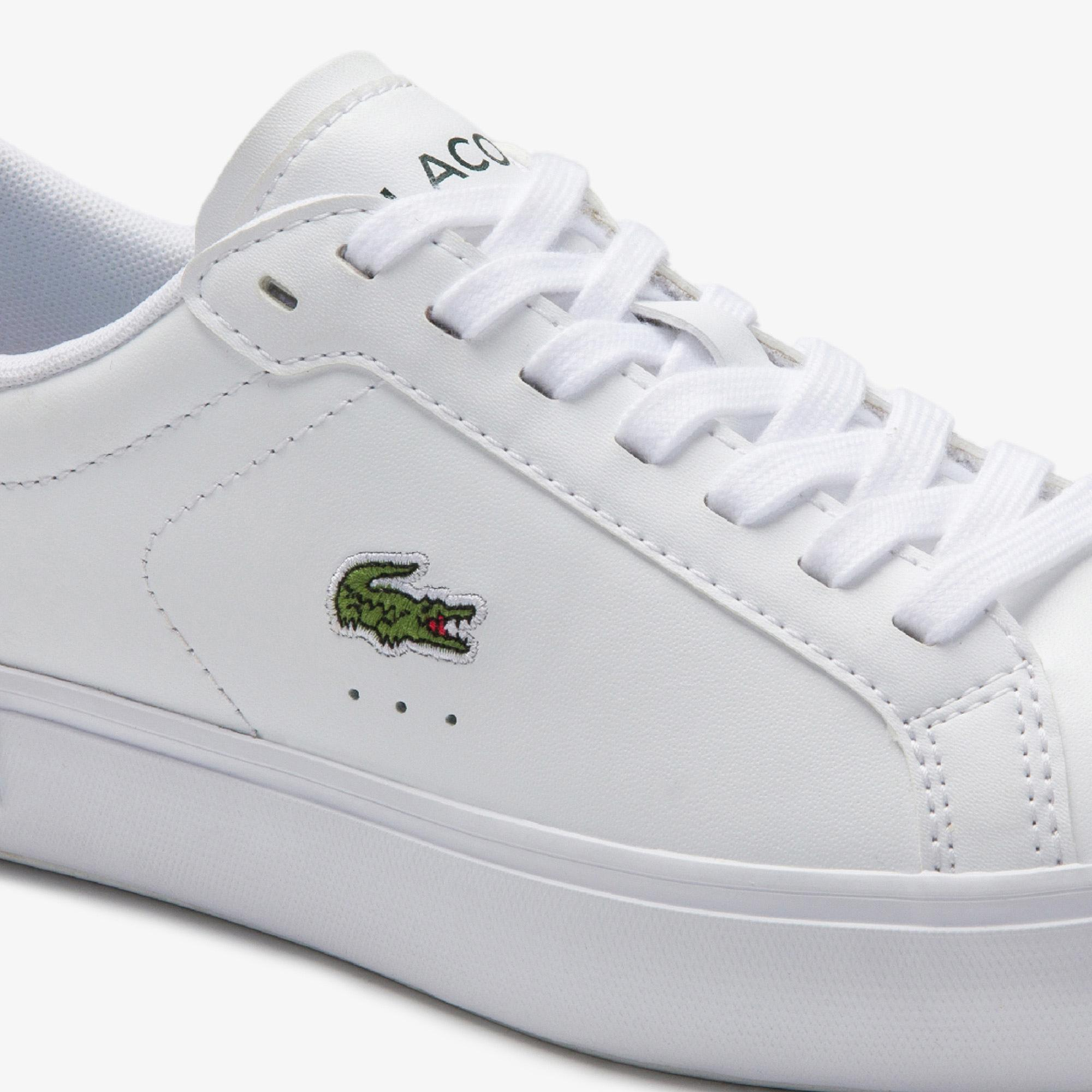 Lacoste Powercourt 0520 1 Sfa Kadın Beyaz - Koyu Yeşil Sneaker