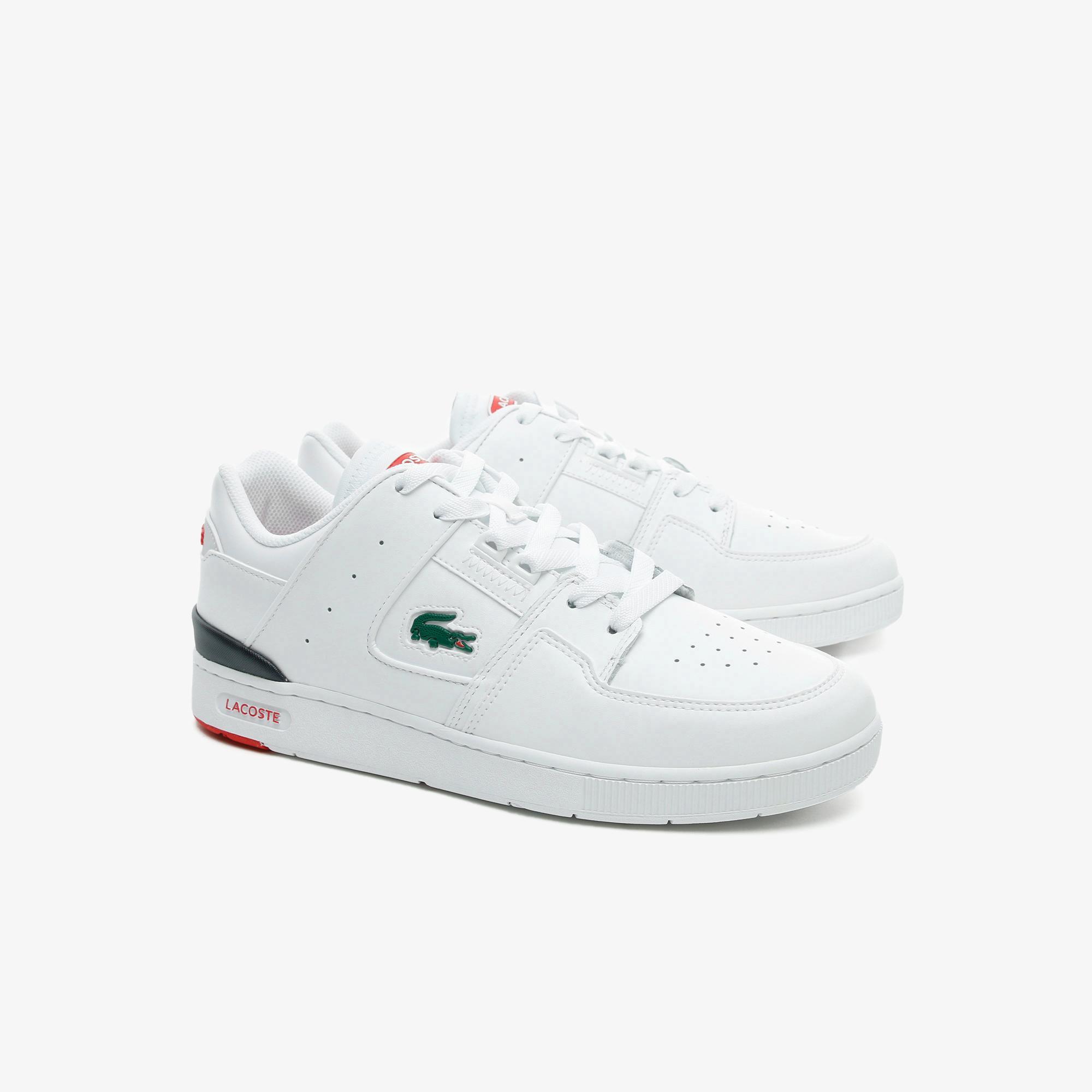 Lacoste Court Cage 0721 1 Sma Erkek Beyaz - Lacivert - Kırmızı Sneaker