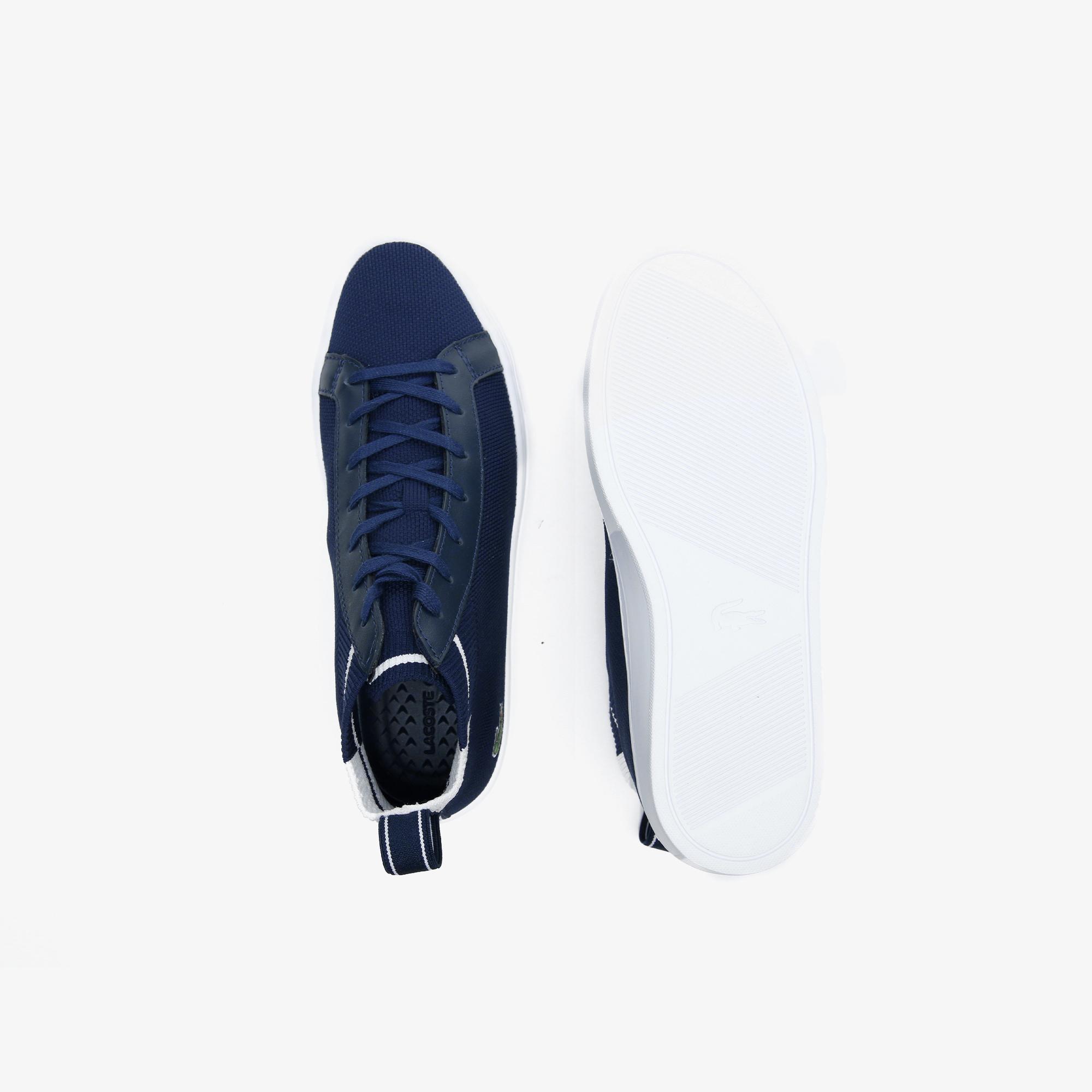 Lacoste La Piquee Mid 0721 1 Cma Erkek Lacivert - Beyaz Mid Ayakkabı