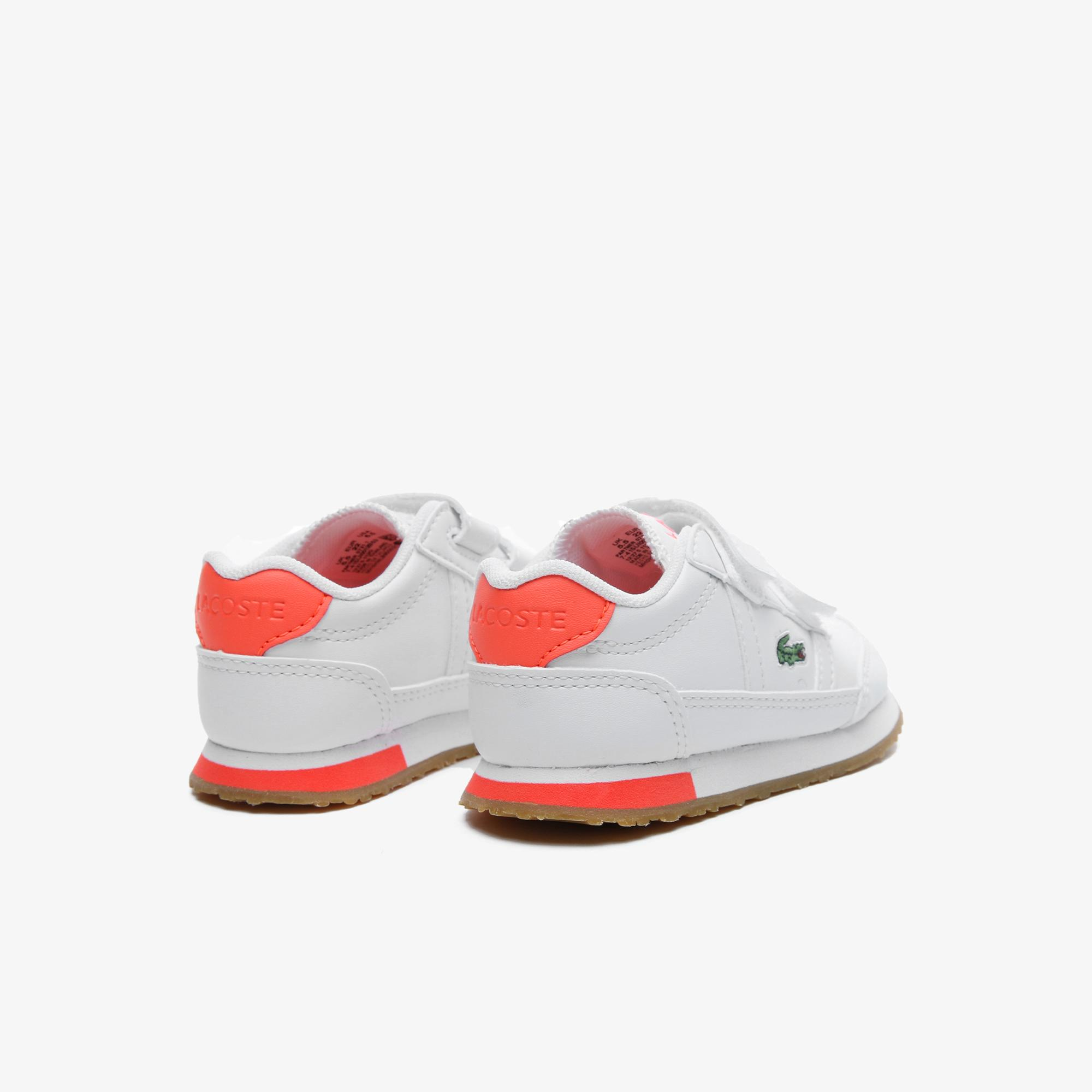 Lacoste Partner 0721 1 Sui Çocuk Beyaz - Pembe Sneaker