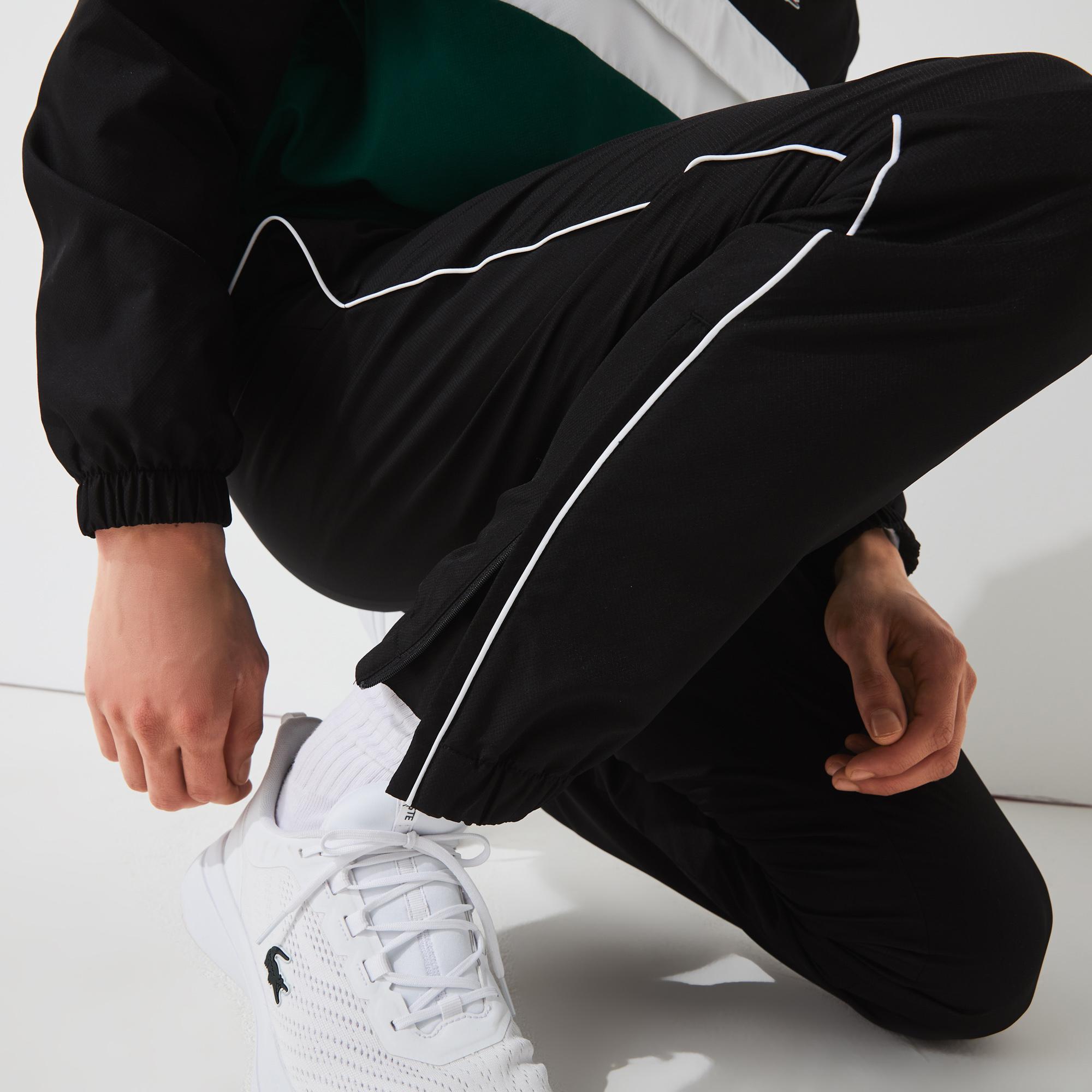 Lacoste Sport Erkek Uzun Kollu Fermuarlı Renk Bloklu Baskılı Renkli Eşofman Takımı