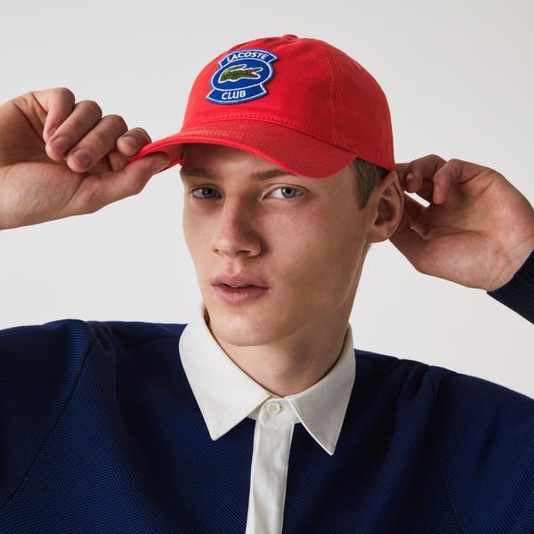 Lacoste Erkek Baskılı Kırmızı Şapka