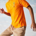 Lacoste X Polaroid Erkek Klasik Fit Turuncu Polo