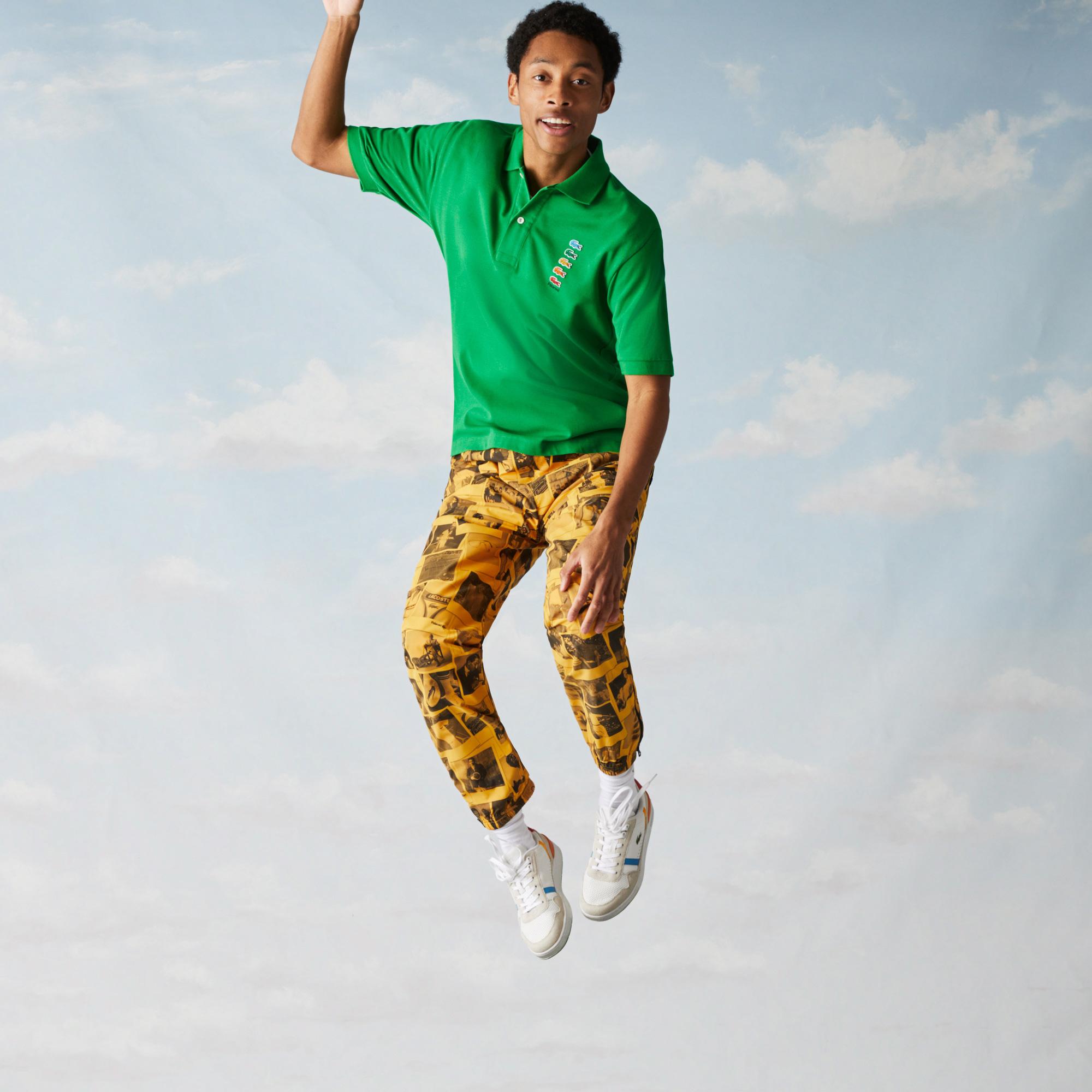 Lacoste X Polaroid Erkek Klasik Fit Yeşil Polo