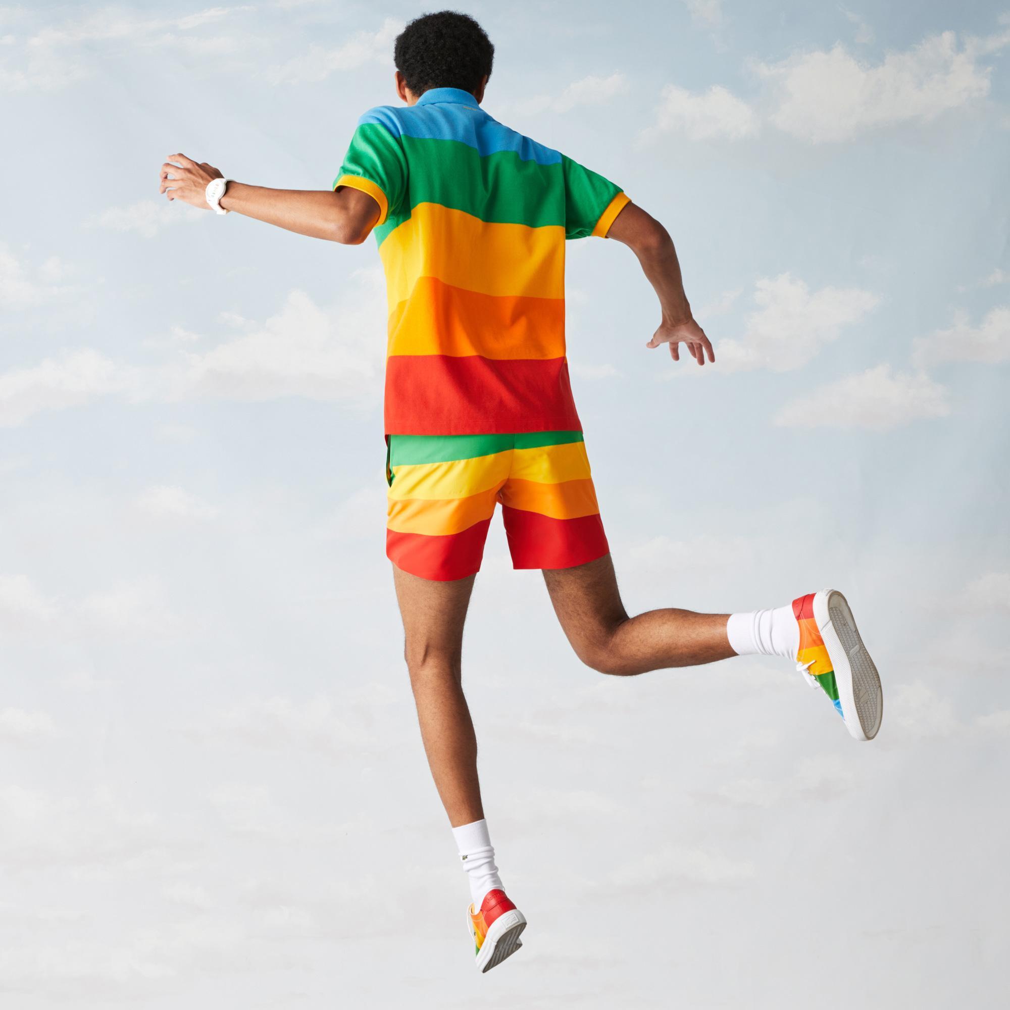 Lacoste X Polaroid Erkek Klasik Fit Renk Bloklu Renkli Polo