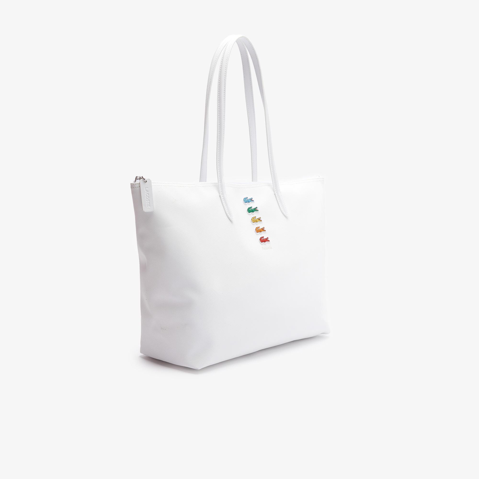 Lacoste X Polaroid Kadın Beyaz Çanta