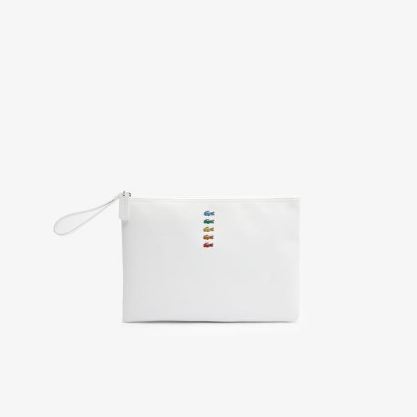 Lacoste X Polaroid Kadın Beyaz Portföy Çanta