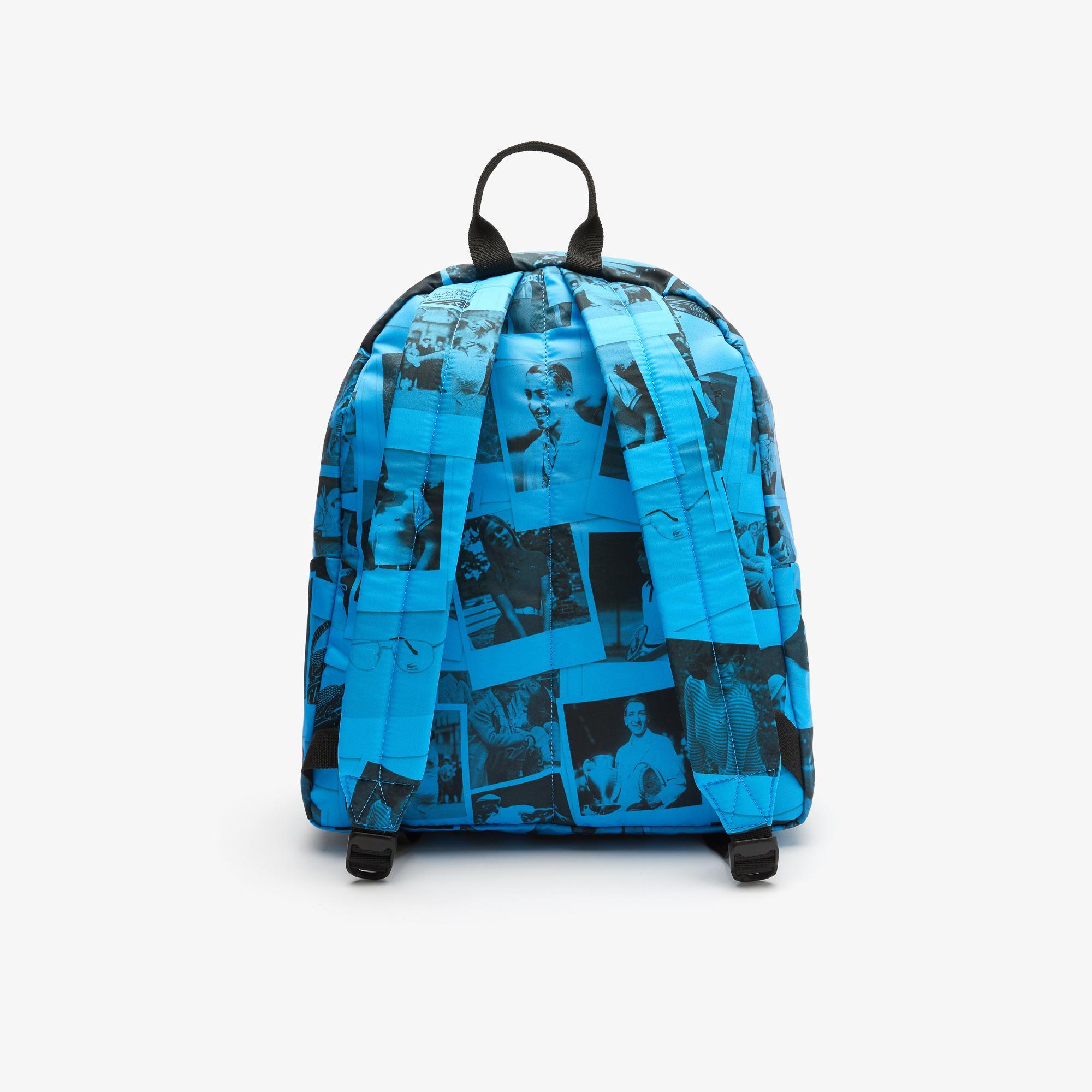 Lacoste X Polaroid Unisex Mavi Sırt Çantası