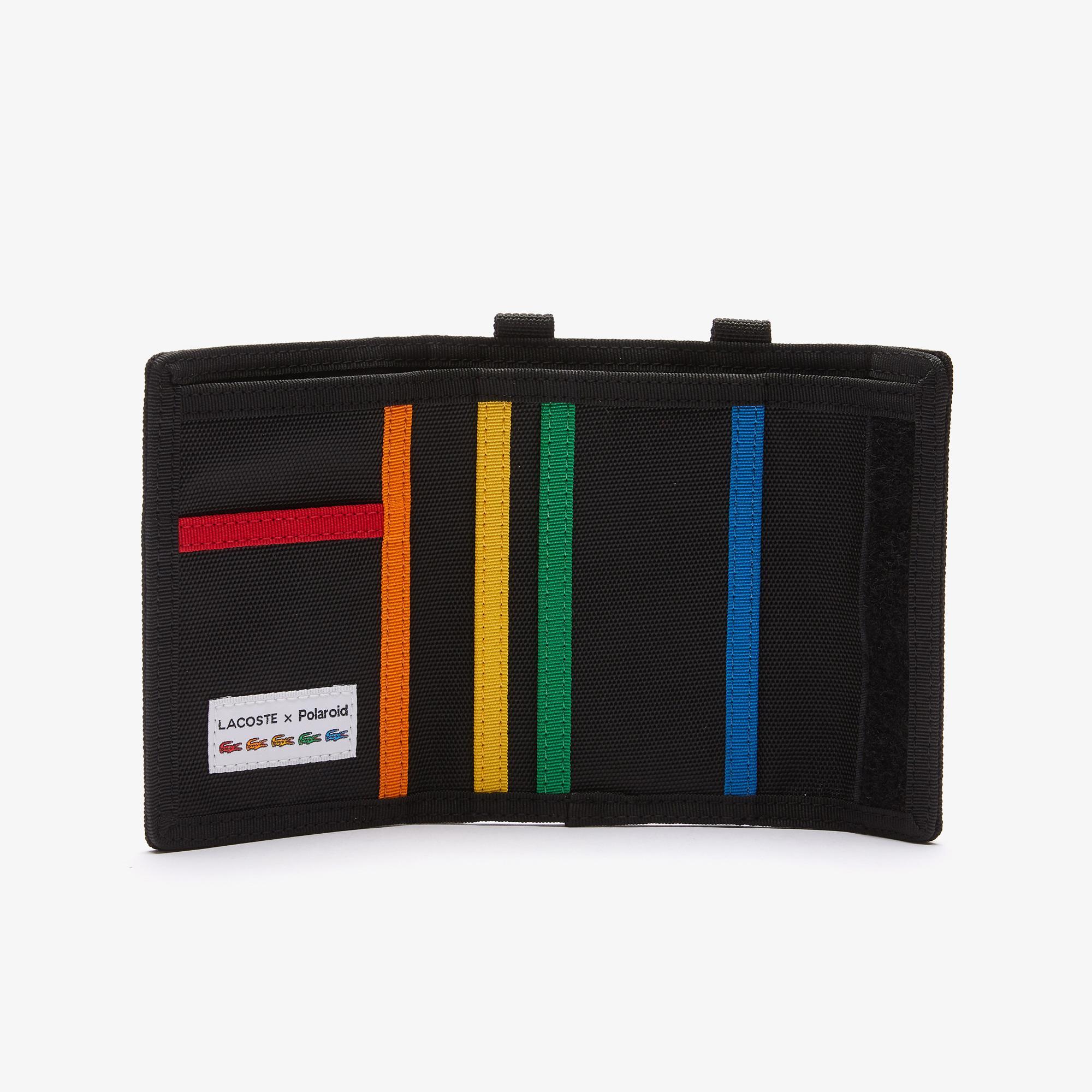 Lacoste X Polaroid Unisex Siyah Cüzdan