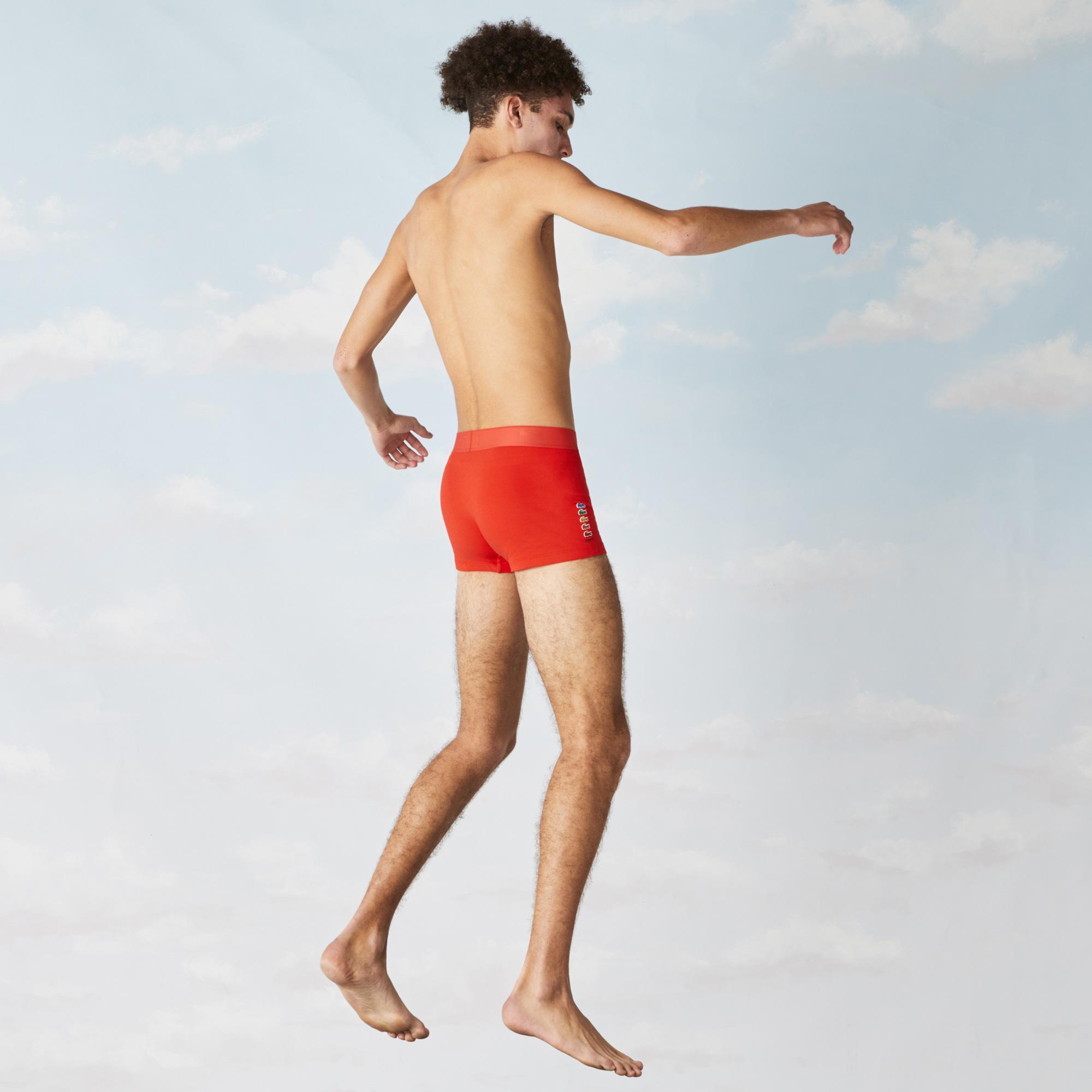 Lacoste X Polaroid Erkek Turuncu Boxer