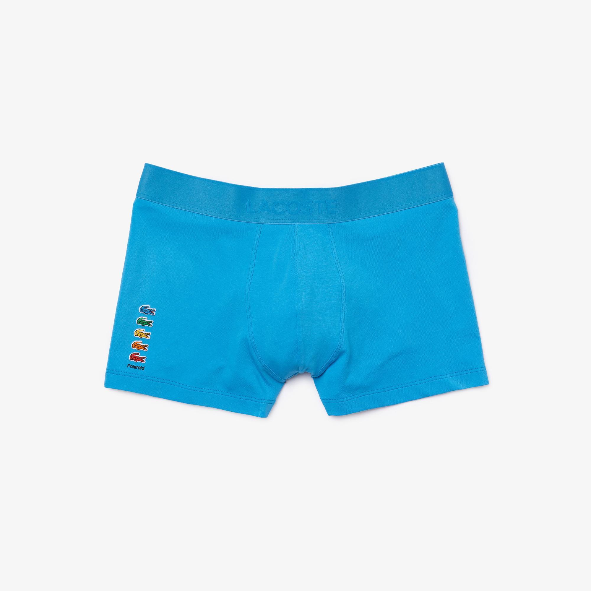 Lacoste X Polaroid Erkek Mavi Boxer
