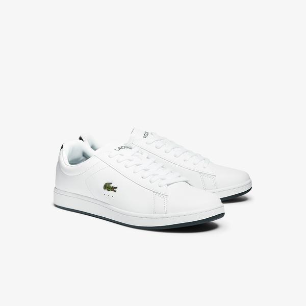 Lacoste Carnaby Evo 0721 2 Sma Erkek Beyaz - Koyu Yeşil Sneaker