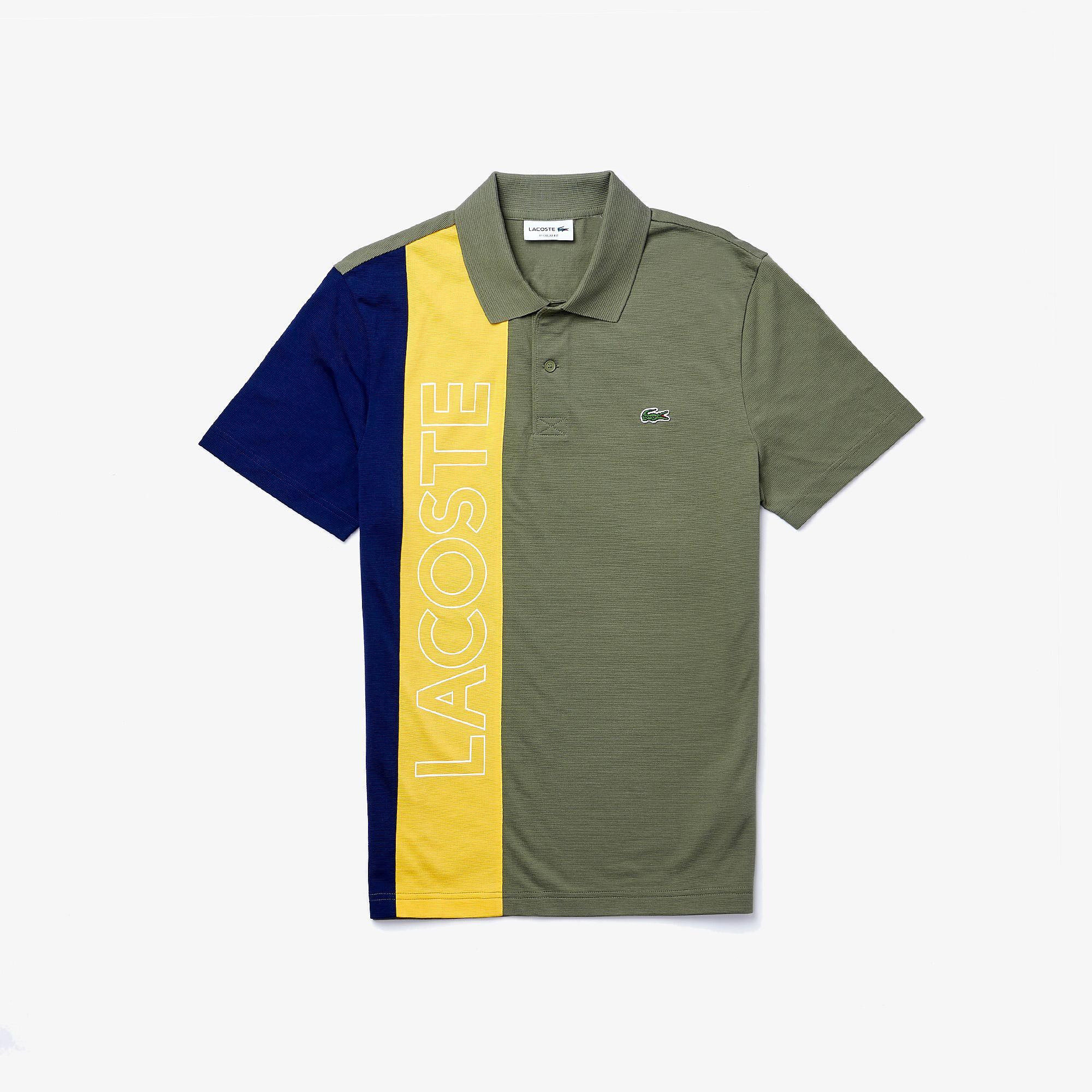 Lacoste Erkek Regular Fit Baskılı Renk Bloklu Renkli Polo