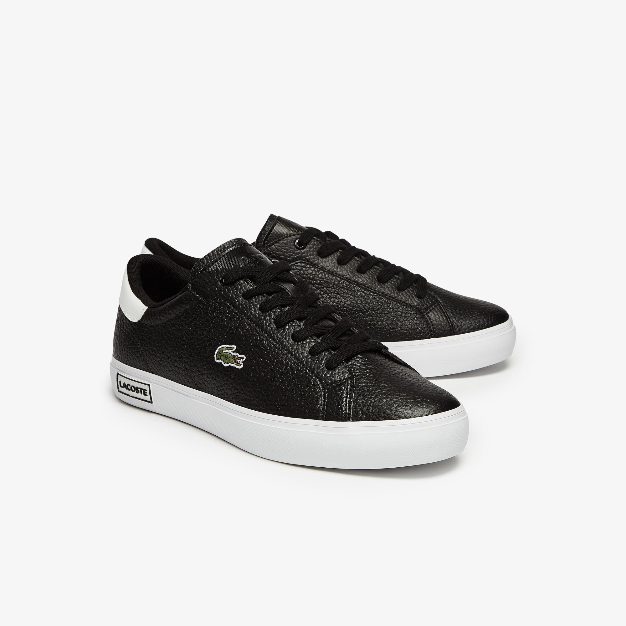 Lacoste Powercourt 0721 2 Sma Erkek Siyah - Beyaz Sneaker