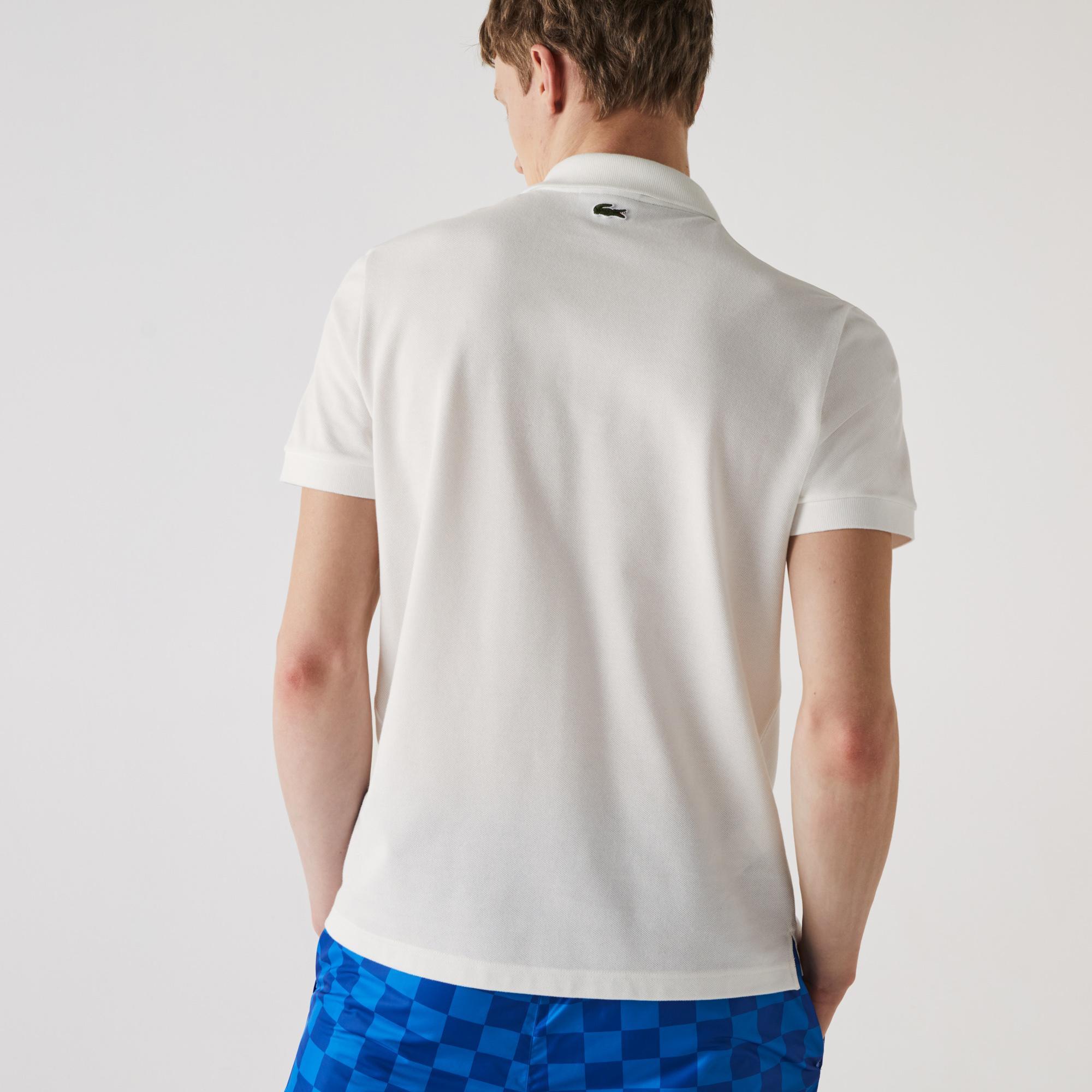 Lacoste Erkek Regular Fit Çizgili Beyaz Polo
