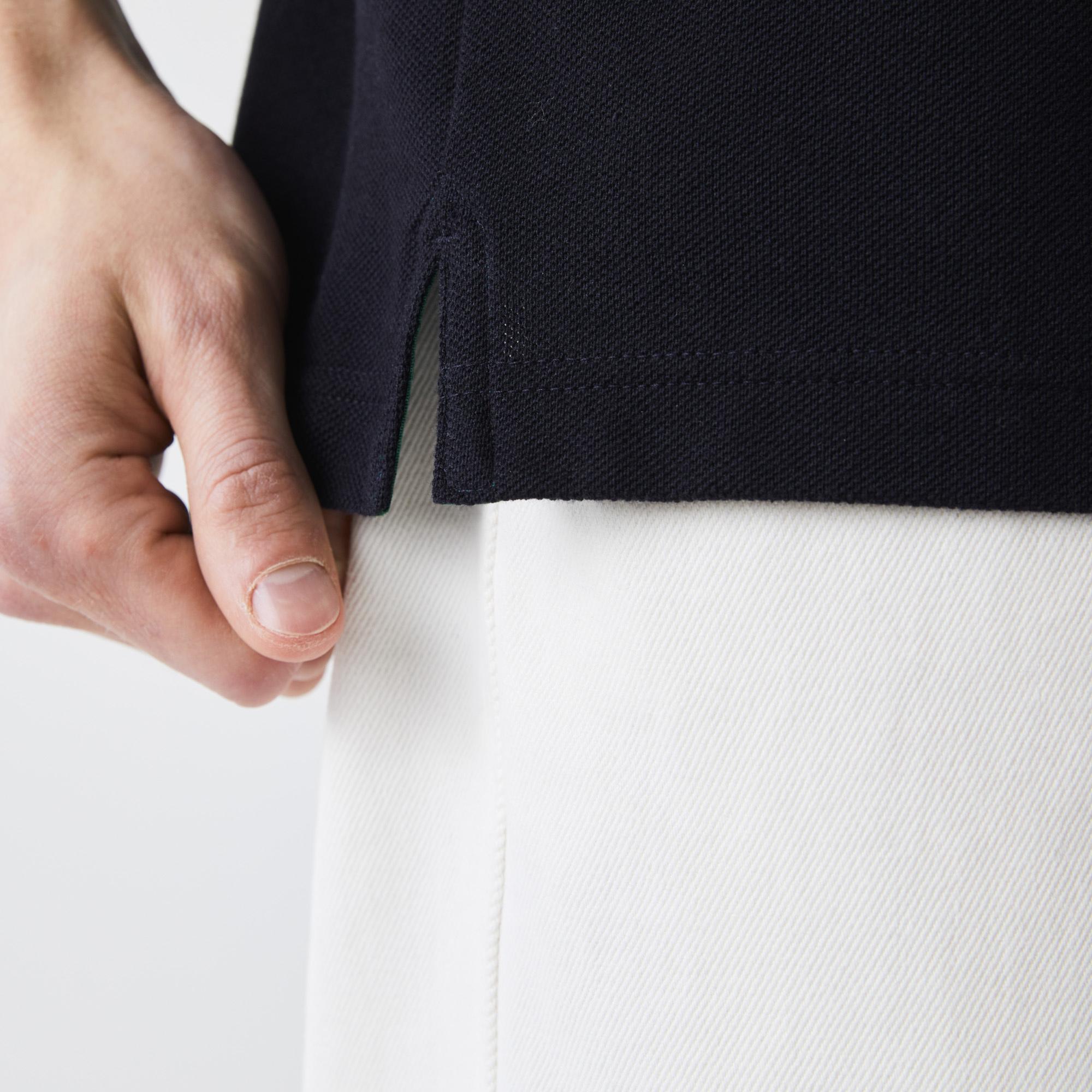 Lacoste Erkek Regular Fit Çizgili Lacivert Polo