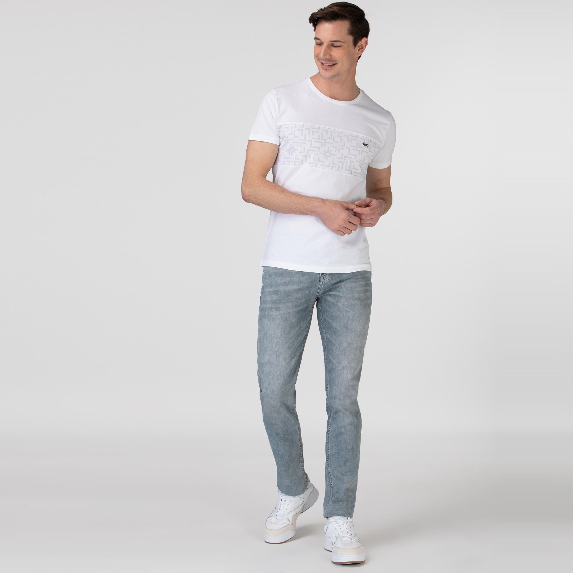 Lacoste Erkek Gri Denim Pantolon