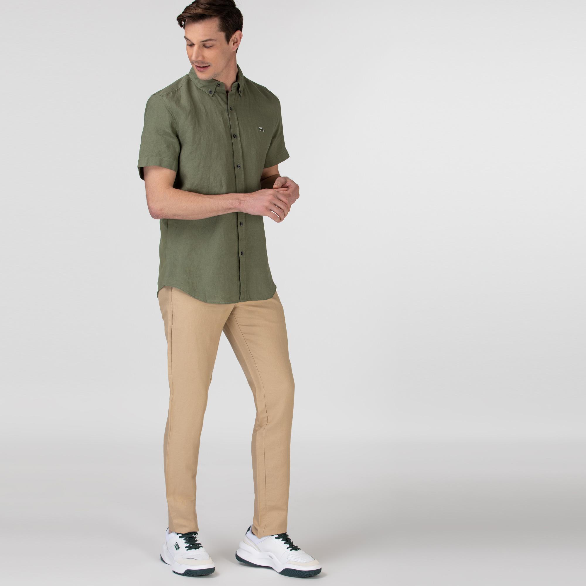 Lacoste Erkek Regular Fit Bej Pantolon