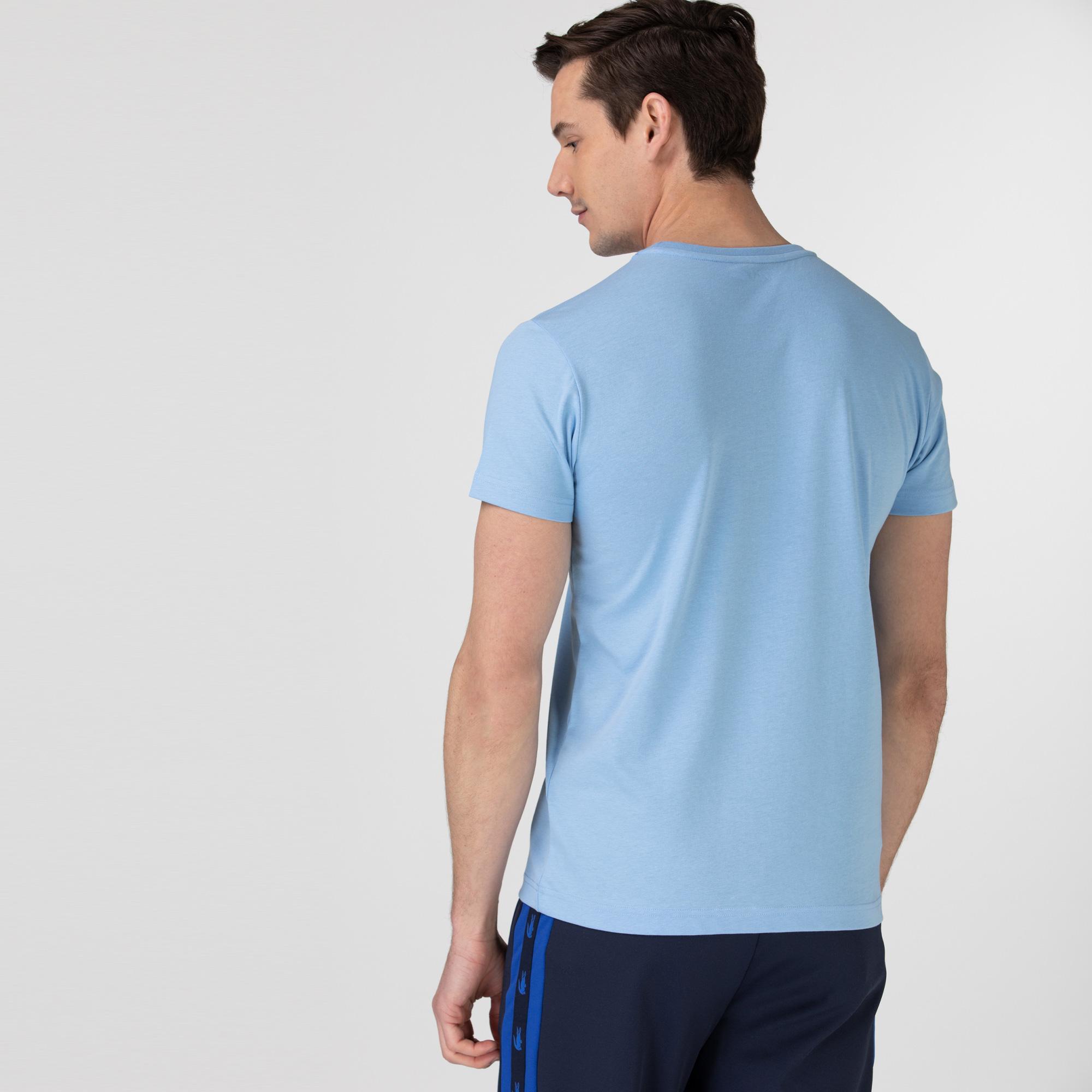 Lacoste Sport Erkek Baskılı Mavi T-shirt