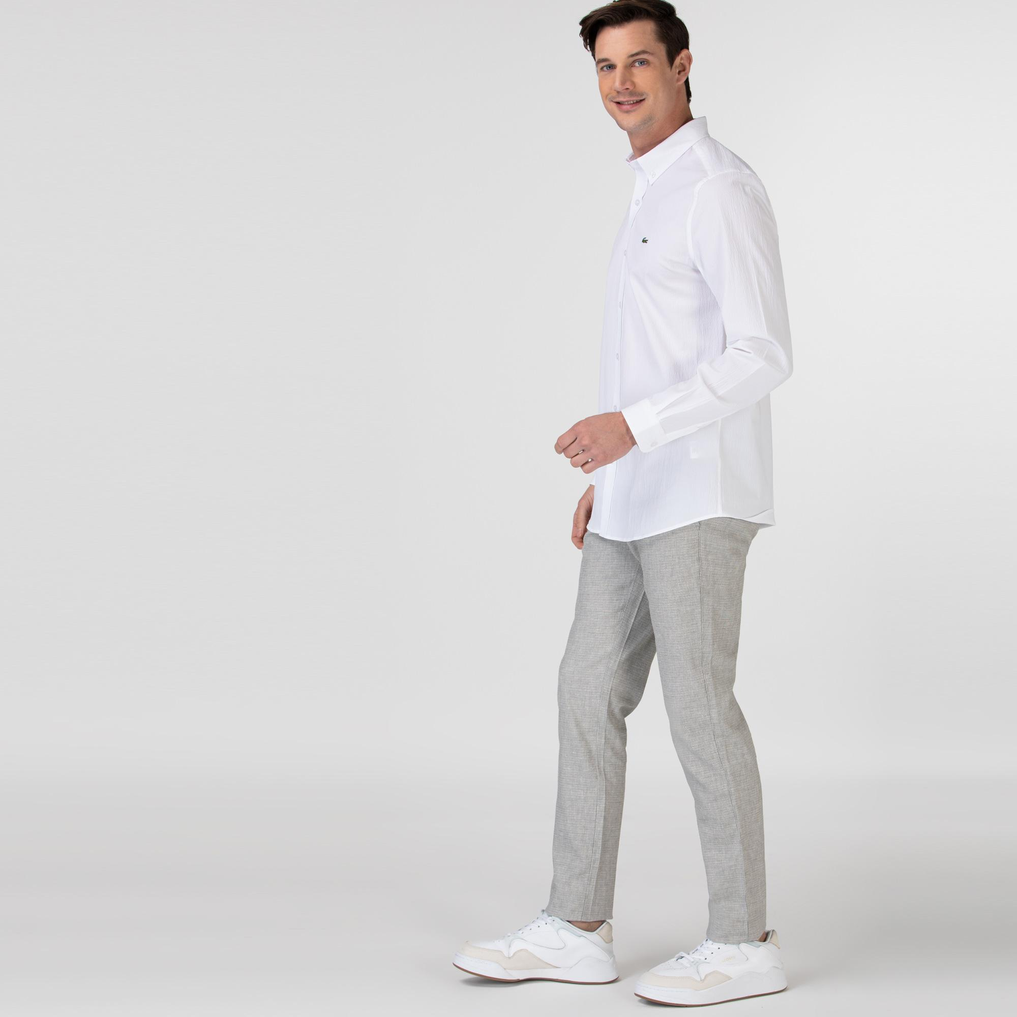 Lacoste Erkek Regular Fit Gri Pantolon