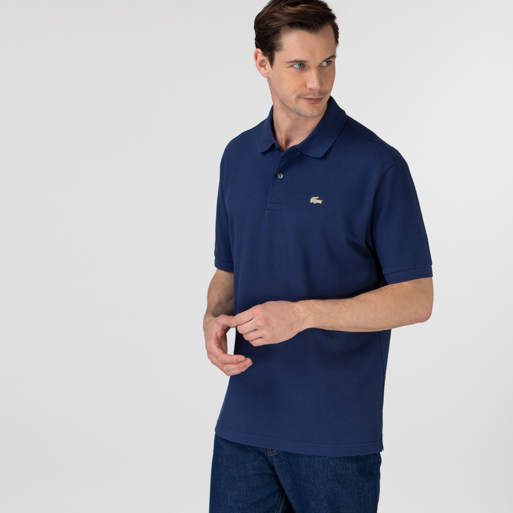 Lacoste L!ve Unisex Loose Fit Lacivert Polo