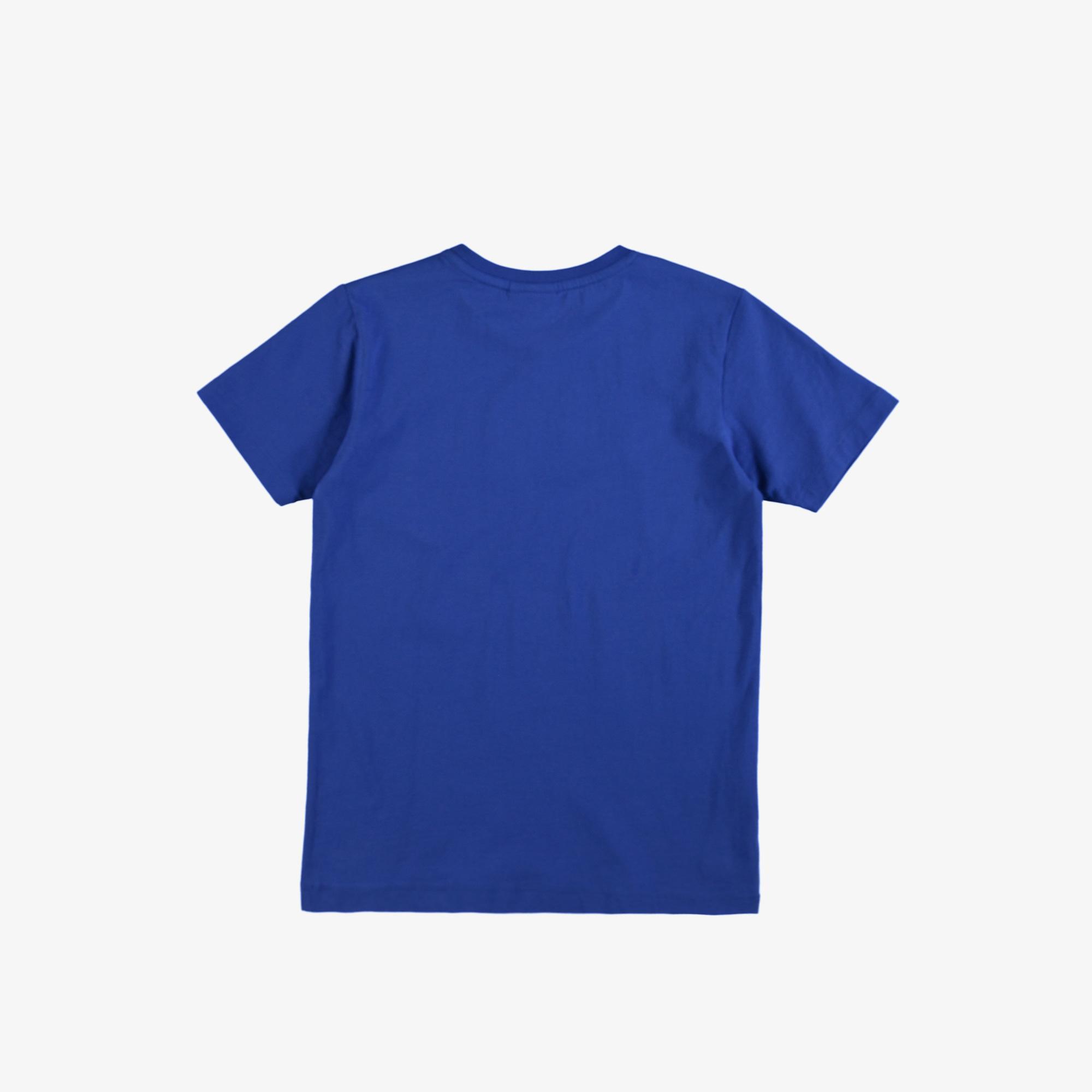 Lacoste Çocuk Bisiklet Yaka Baskılı Mavi T-Shirt