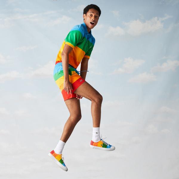 Lacoste X Polaroid Erkek Renk Bloklu Renkli Şort Mayo