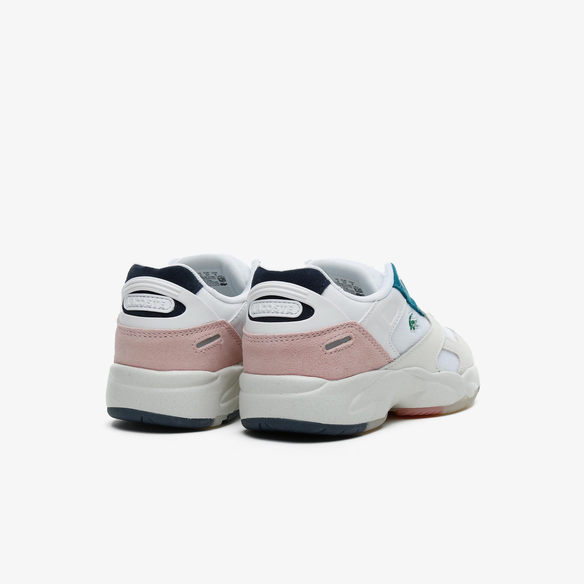 Lacoste Storm 96 Lo 0921 1 Sfa Kadın Beyaz - Açık Pembe Sneaker