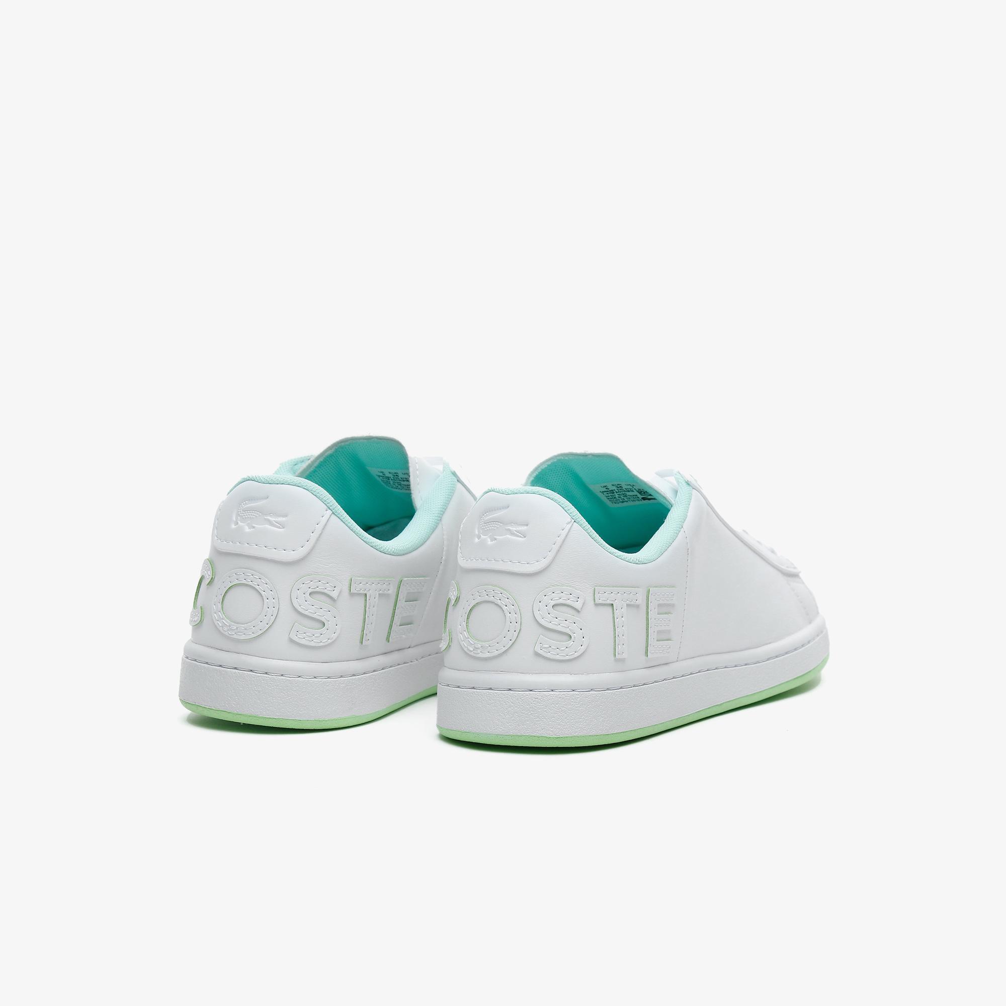 Lacoste Carnaby Evo 0721 6 Sfa Kadın Beyaz - Sarı Sneaker